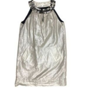 Walter Small Embellished Metallic Shift Mini Dress